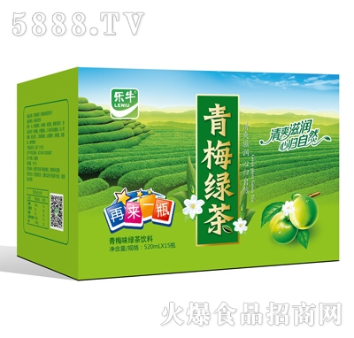 乐牛青梅绿茶饮料520mlx15瓶