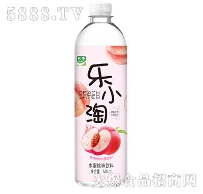乐牛乐小淘水蜜桃味饮料520ml