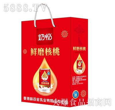 奶畅鲜磨核桃植物蛋白饮品礼盒产品图