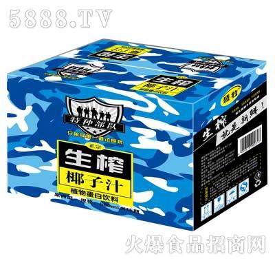 特种部队生榨椰子汁植物蛋白饮料500ml箱装