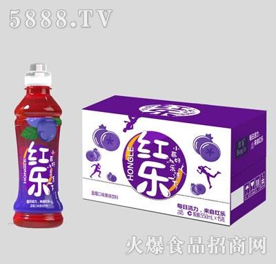 红乐蓝莓口味果味饮料550mlX15