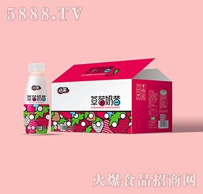怡莱草莓奶昔乳味饮料450mlx15瓶