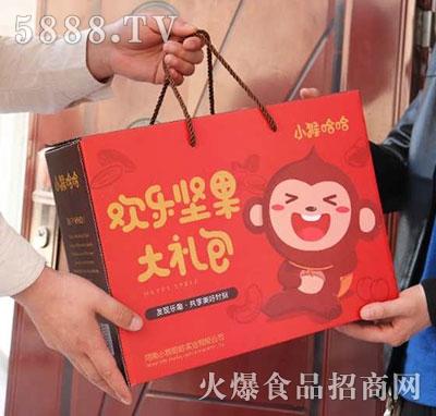 小猴哈哈欢乐坚果大礼包礼盒产品图