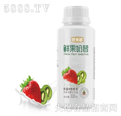 优卡诺鲜果奶昔(草莓+猕猴桃)产品图