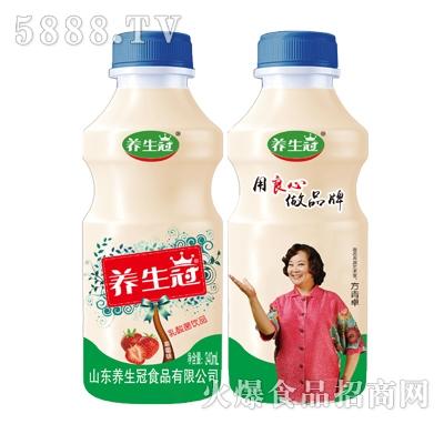 养生冠草莓味乳酸菌饮品340ml