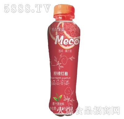 小轻果语桃桃红柚果汁茶饮料