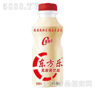东方乐草莓味乳酸菌饮品340ml产品图