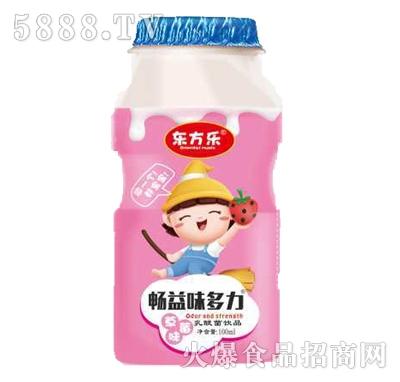 东方乐畅益味多力草莓味乳酸菌饮品100ml产品图