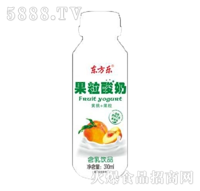 东方乐果粒酸奶黄桃味含乳饮品310ml产品图