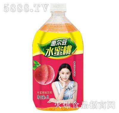 惠尔旺水蜜桃味饮料1L产品图