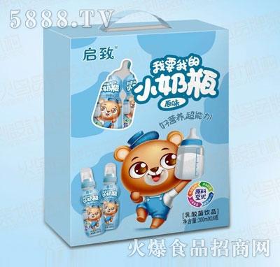 启致小奶瓶原味乳酸菌饮品200mlX16