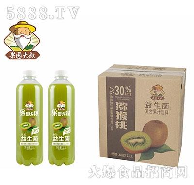 果园大叔猕猴桃益生菌果汁1.1Lx6瓶