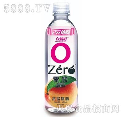 自然道零饮2元果味水饮料水蜜桃口味500ml