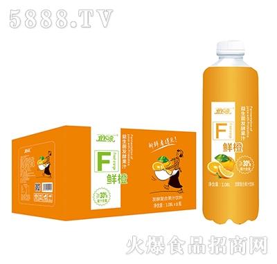 宜泉发酵鲜橙复合果汁饮料1.08Lx8瓶