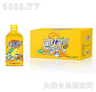 冰红茶味柠檬味饮料1Lx12瓶