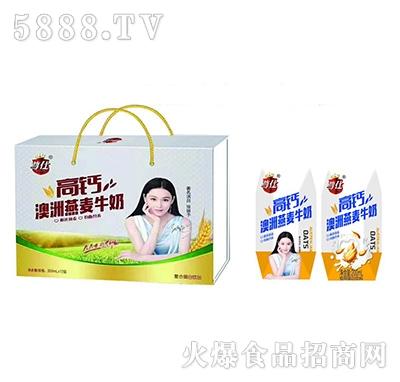 尊仕高钙燕麦牛奶200mlx12盒