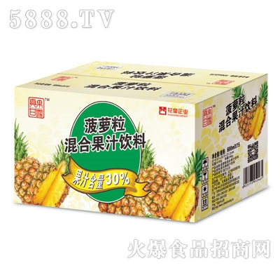 真果甘露菠萝汁600ml外箱