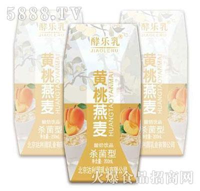 酵乐乳黄桃燕麦酸奶200ml