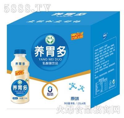 畅养养胃多乳酸菌饮品原味1.25LX6瓶产品图
