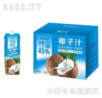 水果码头椰子汁1LX6