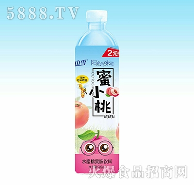 关山雪蜜小桃果味饮料500ml