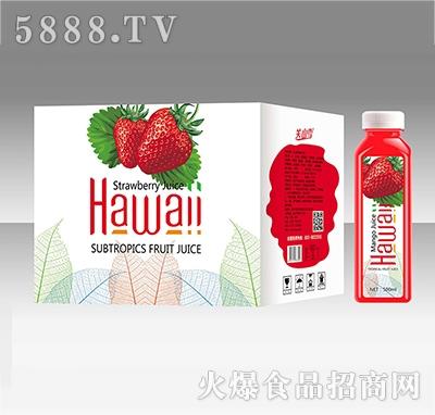 关山雪草莓汁500ML
