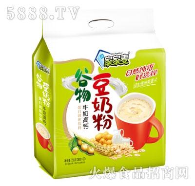 家家麦中老年高钙谷物豆奶粉