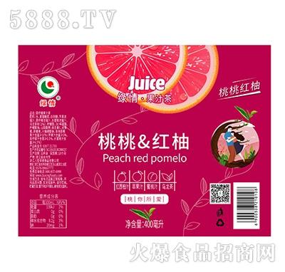 绿情桃桃红柚果汁茶饮料箱装