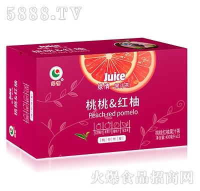 绿情桃桃红柚果汁茶400mlx15瓶