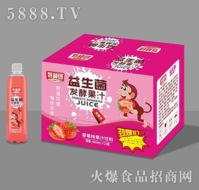 特种团益生菌发酵草莓果汁480mlx15瓶