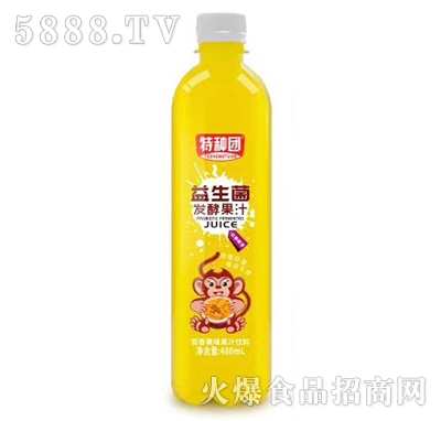 特种团益生菌发酵芒果果汁480ml