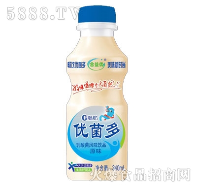 合益优优菌多乳酸菌饮品原味340ml