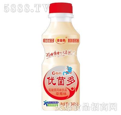 合益优优菌多乳酸菌饮品草莓味340ml