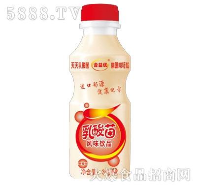 合益优乳酸菌饮品草莓味340ml