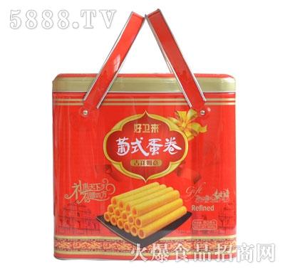 好卫来饼干年货礼盒批发-手撕面包厂家-奶油夹心面包礼盒批发