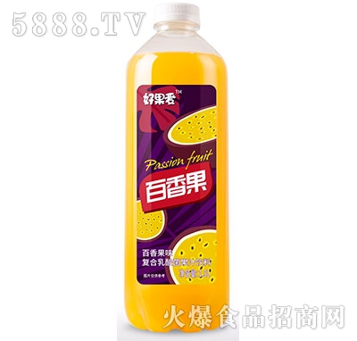 好果爱乳酸菌百香果汁1.5L