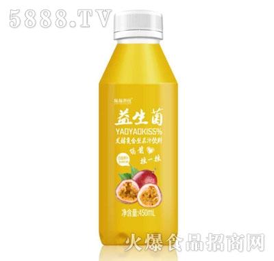 摇摇潮饮益生菌发酵百香果汁450ml