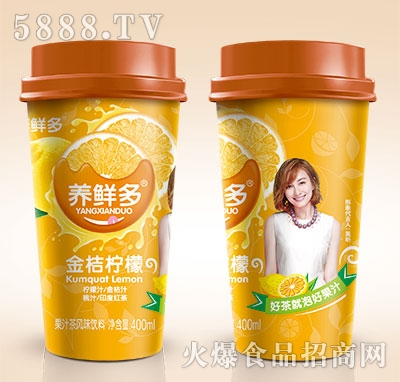 养鲜多金桔柠檬果汁茶400ml