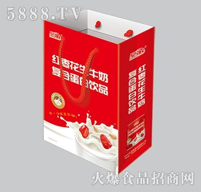 早强红枣花生牛奶礼盒
