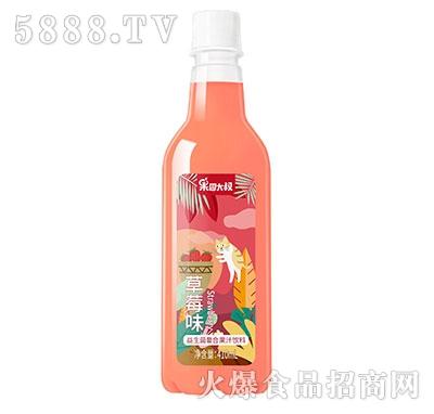 果园大叔益生菌草莓汁饮料410ml