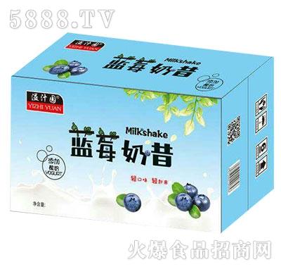 溢汁园蓝莓奶昔产品图
