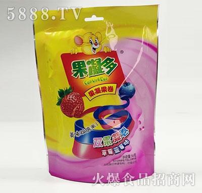 果凝多果凝果卷草莓蓝莓味56克