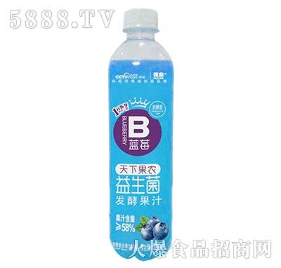 谋家天下果农益生菌发酵蓝莓汁480ml