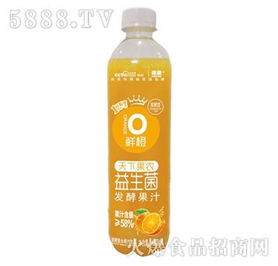 谋家天下果农益生菌发酵鲜橙汁480ml