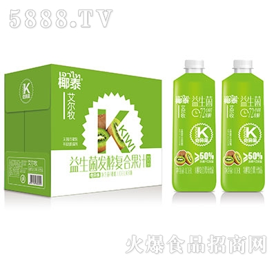 艾尔牧益生菌猕猴桃发酵复合果汁1.08lx6瓶
