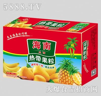 君尔旺海南热带果粒混合果汁箱装