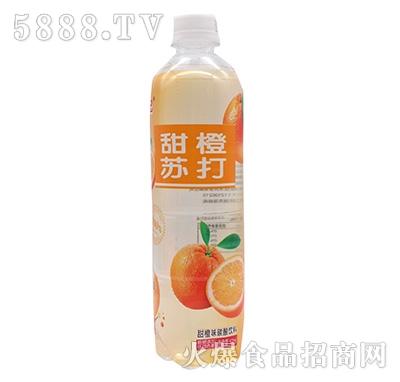 一起嘿吧甜橙苏打碳酸饮料500ml