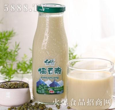 品世小方瓶绿豆爽250ml