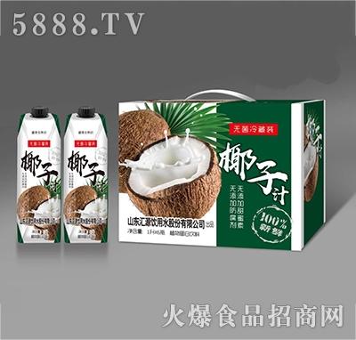 纤乐源椰子汁植物蛋白饮料1Lx6瓶