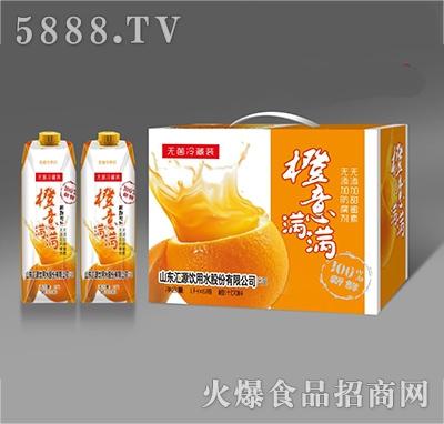 纤乐源橙意满满橙汁饮料1Lx6瓶